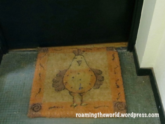 The chicken rug gives me a clue.